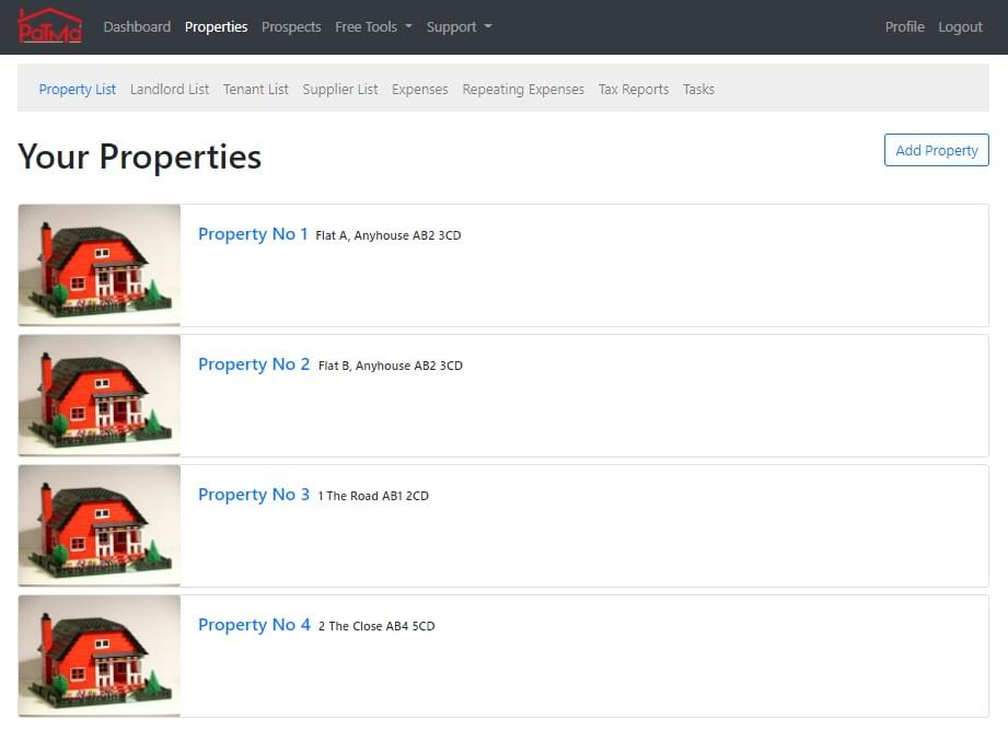 Manage all your properties from one simple interface