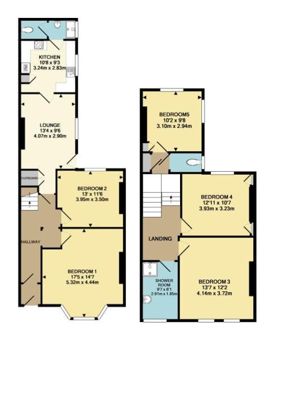 HMO floor plan, before changes