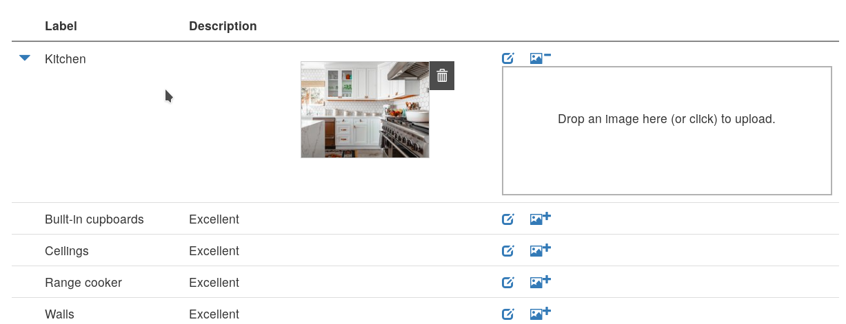 Screenshot of inventory image upload